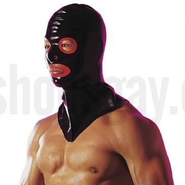 Mascara latex con ribetes rojos