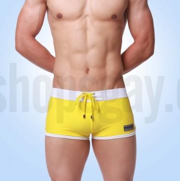 Bañador Boxer Brief Amarillo y Blanco