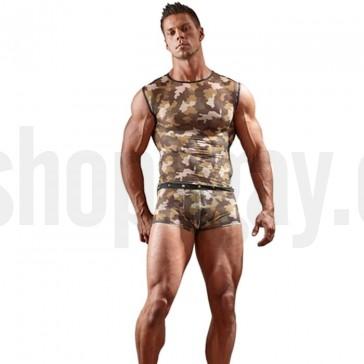 Camiseta sexy hombre con estampado militar