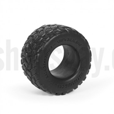 Cockring de goma con forma de rueda.