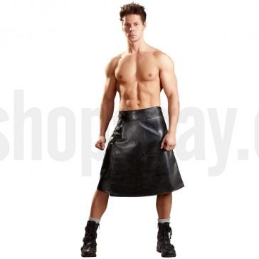 Falda de simil piel para hombre