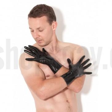 Guantes de latex negros