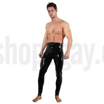 Pantalones látex cremallera