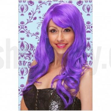 Peluca ondulada violeta