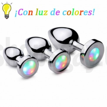Plug anal con luces led
