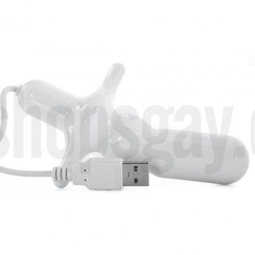 Vibrador anal con conexión a USB