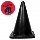Plug gigante con forma de cono, All Black 35 Manfred