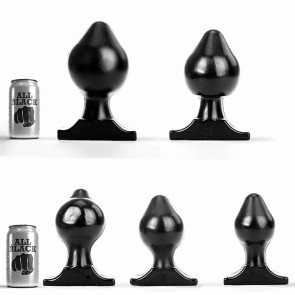 Buttplugs de la marca ALLBLACK
