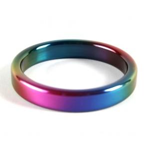 cockring acero pulido rainbow