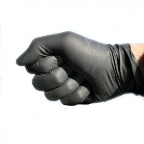 Guantes negros de nitrilo