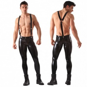 Pantalon de latex con tirantes