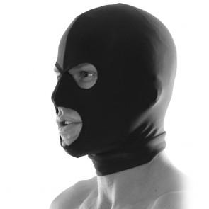 Pasamontañas fetish, máscara con aberturas en ojos y boca