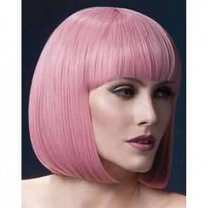 Peluca corta rosa