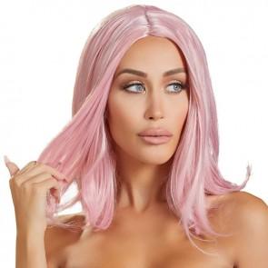 Peluca Rosa Corte Tipo Bob